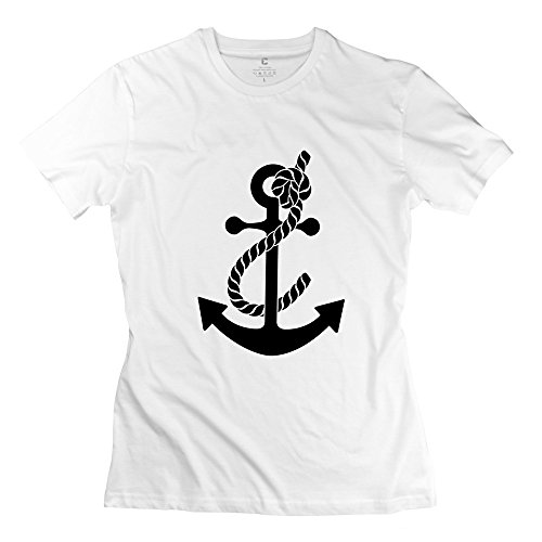 Personalized Women's New T Shirts Anchor Size L White