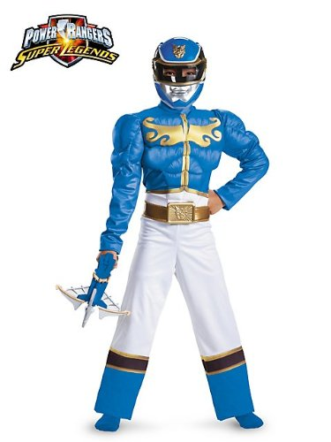 Blue Ranger Megaforce Classic Muscle Costume for Kids M