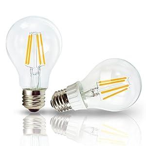 サクル株式会社 LEDクリア電球 フィラメント 電球色 白熱電球40W相当