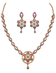 Gehna Handcrafted Multi Color Stone Studded Necklace & Earring Set