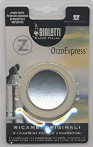 Bialetti: Replacement for Orzo Express 4-Cup (1 Filter Plate + 2 Rubber Seals) from Bialetti