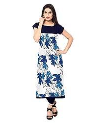 Saiveera Fashion New Arrival Women's Crepe Long Kurtis (VAT150_MultiColoured_Large)