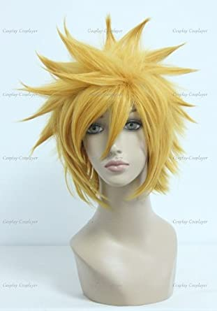 CosplayerWorld Cosplay Wigs Kingdom Hearts Original Soundtrack Complete Box Ventus Wig For Convention Party Show Blonde Color32cm 170g WIG-201A
