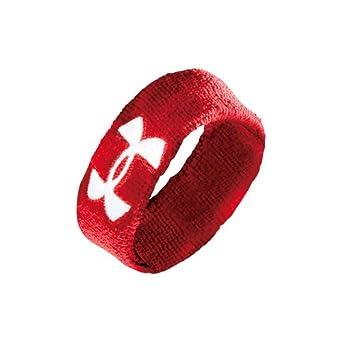 (アンダーアーマー)UNDER ARMOUR UAリストバンドショート(ペア) AAL4463  RED ONESIZE