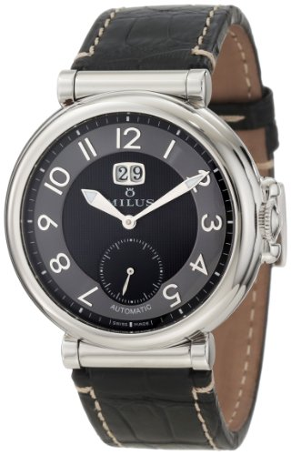 Milus Men's ZET001 Stainless Steel with Black Dial Watch