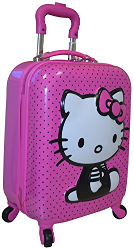 Hasbro-Hello-Kitty-Girls-18-Hardside-3D-Spinner-Carry-On-Luggage