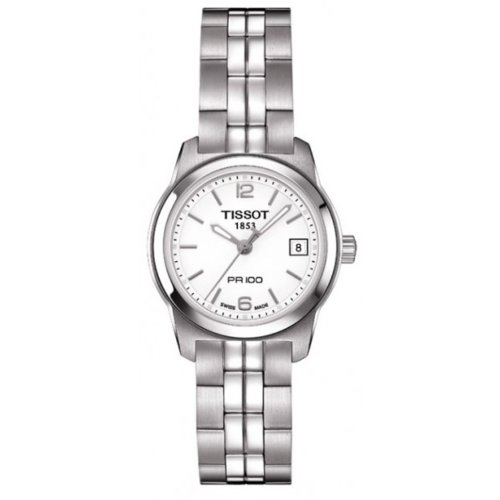 Tissot PR 100 White Quartz Women's watch #T049.210.11.017.00
