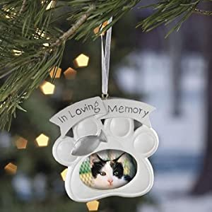 #!Cheap Loving Memory Cat Memorial Christmas Ornament Photo
