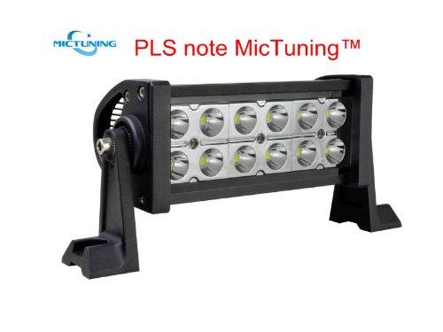 "Mictuning 4× Mic-B2361 10-30V 7.5"" 36W Led Lights Bar Spot Beam Super Bright 2500 Lumen 4×4 Off Road Atv Suv Jeep"