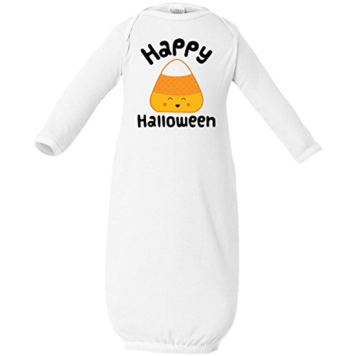 Inktastic Baby Boys' Happy Halloween Candy Corn Baby Layette Sleepers