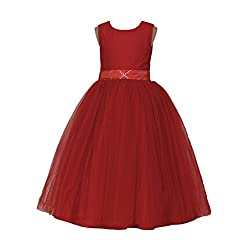 Kids Party Wear Red Ball Gown Size : 10-11yrs ( Free HairBand )