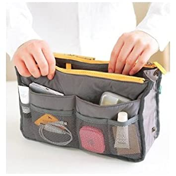 SODIAL- Handbag Pouch Bag in Bag Organiser Insert Organizer Tidy Travel Cosmetic Pocket