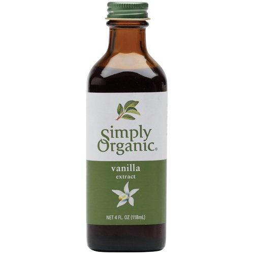 Simply Organic Pure Vanilla Extract Certified Organic 4 Ounce Glass Bottles Pack of 2