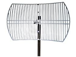 TP-LINK TL-ANT5830B 5GHz 30dBi Outdoor Directional Grid Parabolic Antenna N Type Female connector (Black)