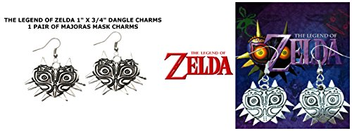 Silver-tone The Legend of Zelda Majoras Mask Game/Movie/TV Theme Charm Dangle Earrings W/Gift Box