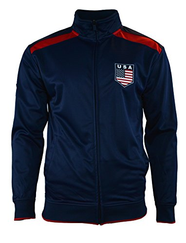USA US Jacket Adult Track Soccer Adult Sizes Soccer Football (Navy J1Q15, S) (Us Navy Football compare prices)