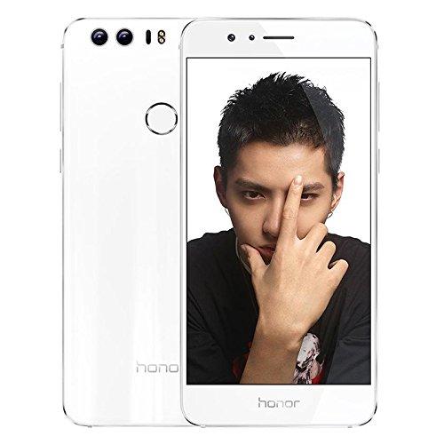 ロック解除のAndroid6.0 Huawei Honor 8 FRD-AL00 イエローページ3ギガバイトのRAM+32ギガバイトROM4G LTEデュアルSIMフルアクティブEMUI4.1オクタコア2.3GHzの5.2インチQHDデュアルカメラなし - ホワイト