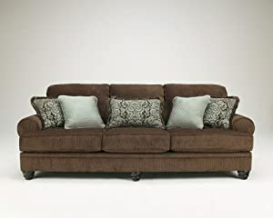 """Chocolate Collection Stationary Sofa by """"Famous Brand"""" Furniture"""