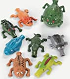 Pack of 6 - Rubber Small Balloon Buddies - Great Halloween Party Loot Bag Fillers