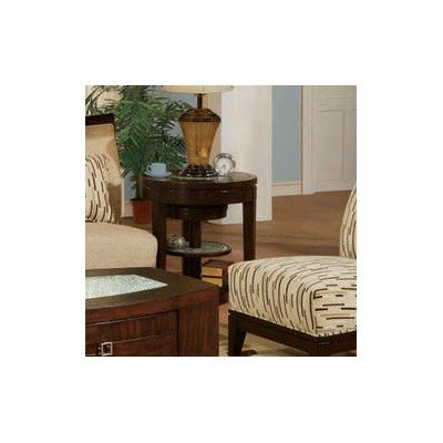 Image of Georgio End Table in Venge Veneer with Small Nesting Table (STGEOEV)