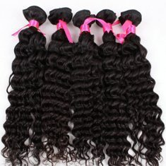 Human Hair Direct 100% Brazilian Remy Human Hair Extensions Curly 3 Pack (16, 18, 20) Bundle, 300g Total (100g Each), Grade Aaaaa (Virgin Color)