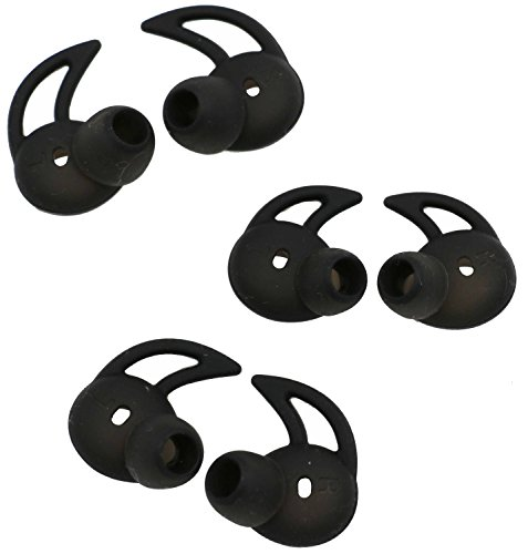 Click to buy Eargel Tip for Level U Pro, ALXCD SML 3 Pair Anti-Slip Durable Silicone Replacement Ear Tip Earpads, Fit for Samsung Level U Pro [Sport][Black](3 Pair) - From only $109