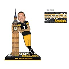 PITTSBURGH STEELERS ROETHLISBERGER B. #7 SMU BASE BOBBLE ROAD - BIG BEN LONDON by Forever Collectibles
