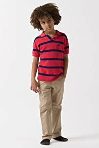 Boy's Short Sleeve Stripe Pique Polo