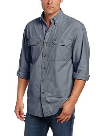 Carhartt men 39 s big tall fort long sleeve for Carhartt men s long sleeve lightweight cotton shirt