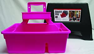 Duratote Step Stool with Grooming Box Pink