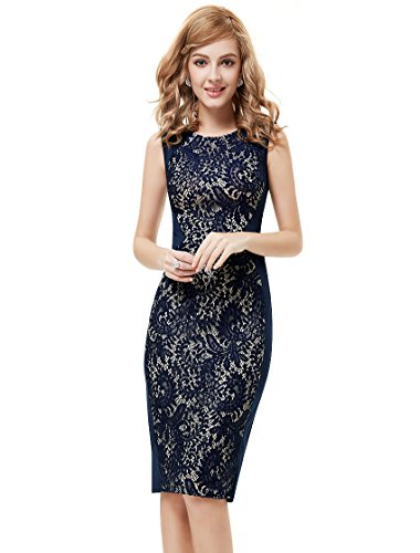 Ever Pretty Womens Semi Formal Cocktail Party Dress 16 Us Navy Blue