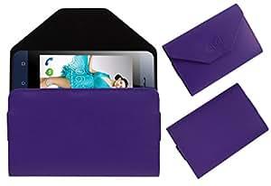 Acm Premium Flip Flap Pouch Case For Zen 105 Glitter Mobile Leather Cover Magnetic Closure Purple