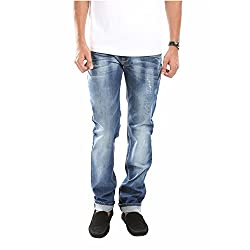 Sting Slim Fit Blue Denim Casual Jeans for Men