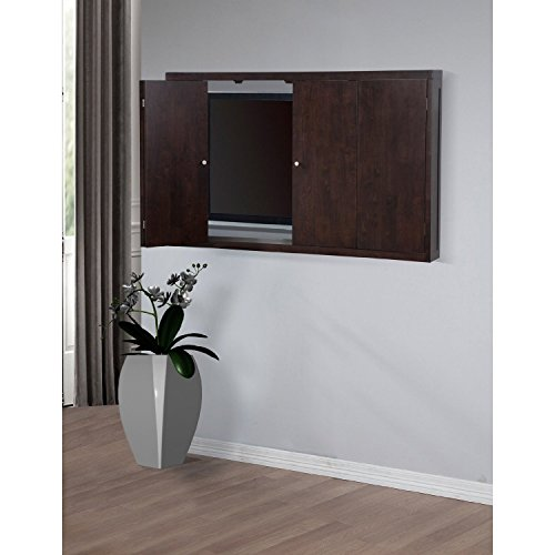 Wall Mount TV Cabinet Designed for Use with Most 50-inch Flat Screen TVs, This Cabinet Looks Great and Is a Modern Way to Update Your Living Room.