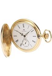 Catorex Men's 171.6.1634.110 Les Breuleux 18k Gold Plated Brass White Dial Pocket Watch