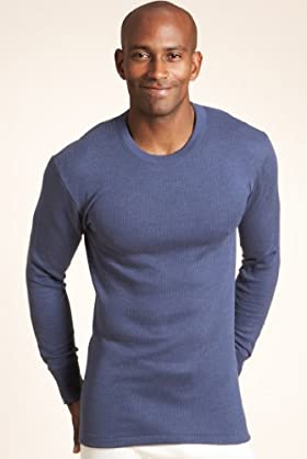 Cotton Blend Long Sleeve Thermal Vest