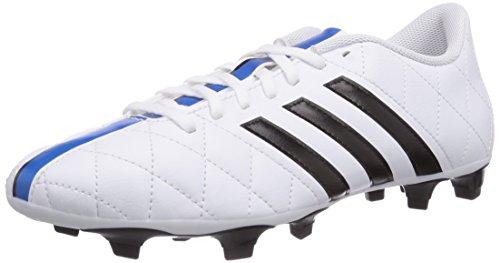 adidas - 11Questra Firm Ground, Scarpe da calcio da uomo, bianco (ftwr white/core black/solar blue2 s14), 39.3333333333333