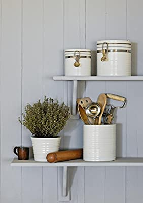 Sophie Conran For Portmeirion Lidded Store Jar, White, Small by Portmeirion