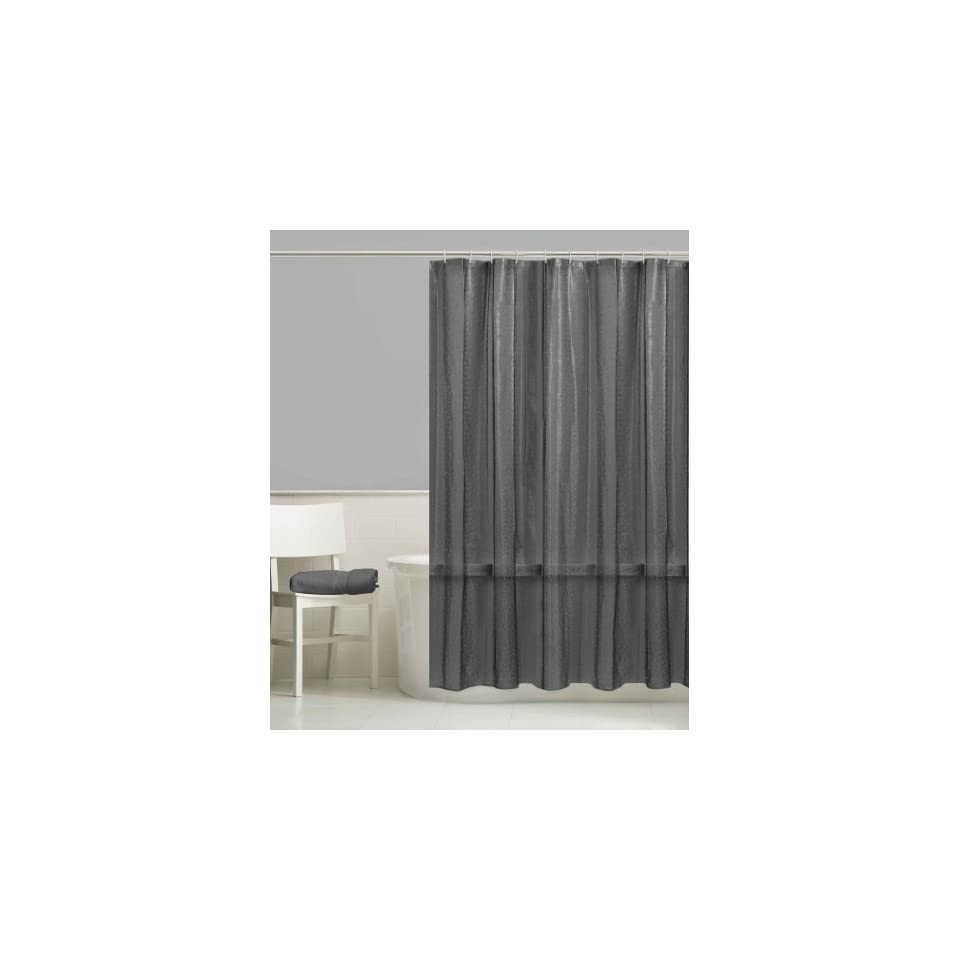 Style Selections Dots Peva Solid Shower Curtain Liner, Smoke Grey