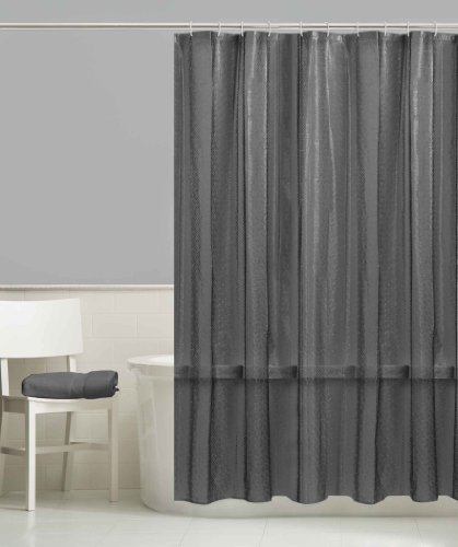 Style Selections Dots Peva Solid Shower Curtain Liner Smoke Grey Bath Supp