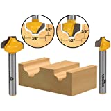 Yonico 14274q 2 Bit Ogee Groove Router Bit Set 1/4-Inch Shank