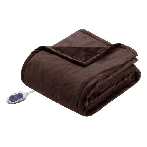 Beautyrest Micro Mink Warming Throw - Chocolate - 52x62