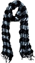 Black & White Crinkle Scarf