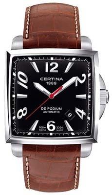 Certina Men's Wristwatch Analog Leather Automatic XL C001 507.16.057.00.