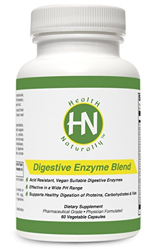 Digestive Enzyme Blend – 60 Vegetable Capsules | Contains Lipase, Proteases, Alpha-Galactosidase, Hemicellulase, Papain, Lactase, & Other Key Digestive Enzymes | Effective in Wide PH Range | Vegan Suitable | Pharmaceutical Grade