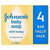 Johnsons Baby Soap with Honey 4 x 100G