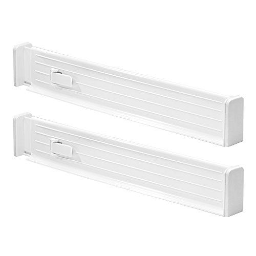 InterDesign 62421EU Linus Diviseur/Tiroir Ajustable Lot de 2 Blanc