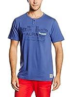 THE INDIAN FACE Camiseta Manga Corta (Azul)