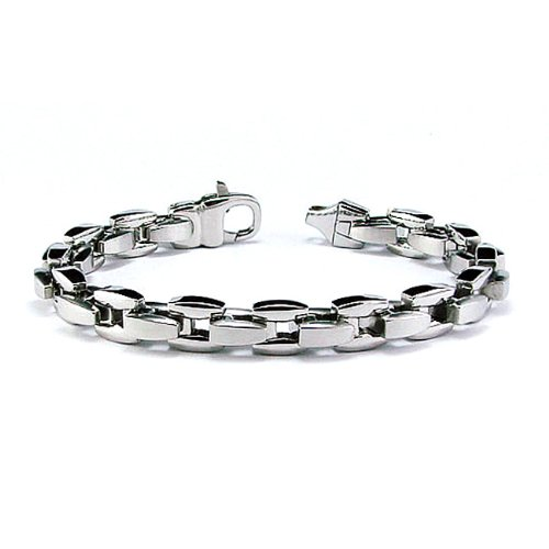 Stainless Steel Men's Link Bracelet 8.5 Inches