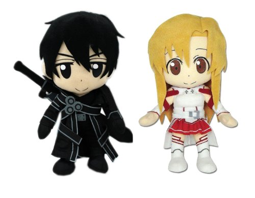 Set of 2 Great Eastern Sword Art Online Plush – Kirito / Asuna image